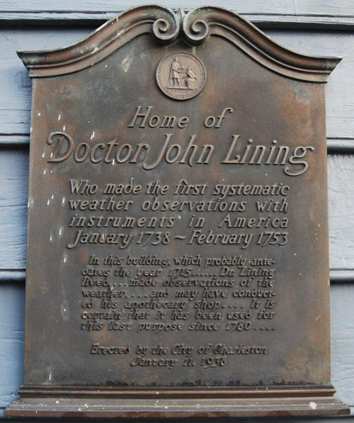 Plaque on the home of Dr